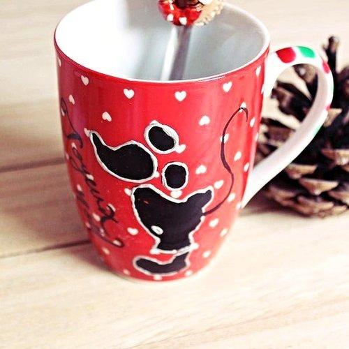 Tasse Mug Dessin Façon Mickeycuillère Donutsfimo Macaron