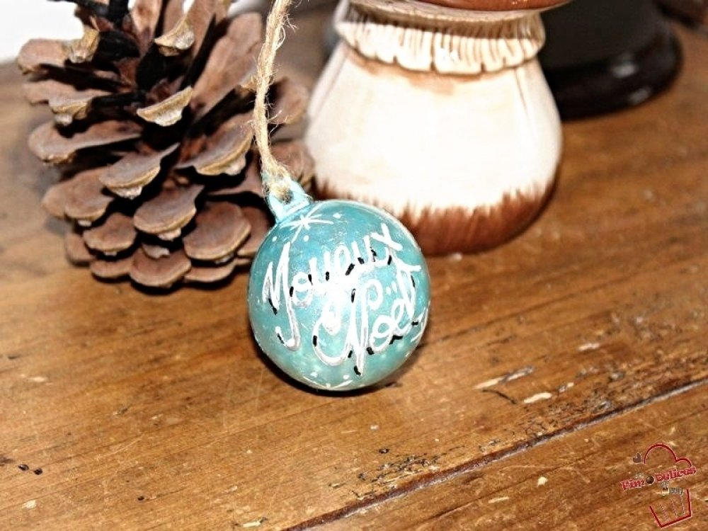 Décoration de sapin,boule de noel,fait main,cadeau de noel,boule sapin fait  maison,artisanat