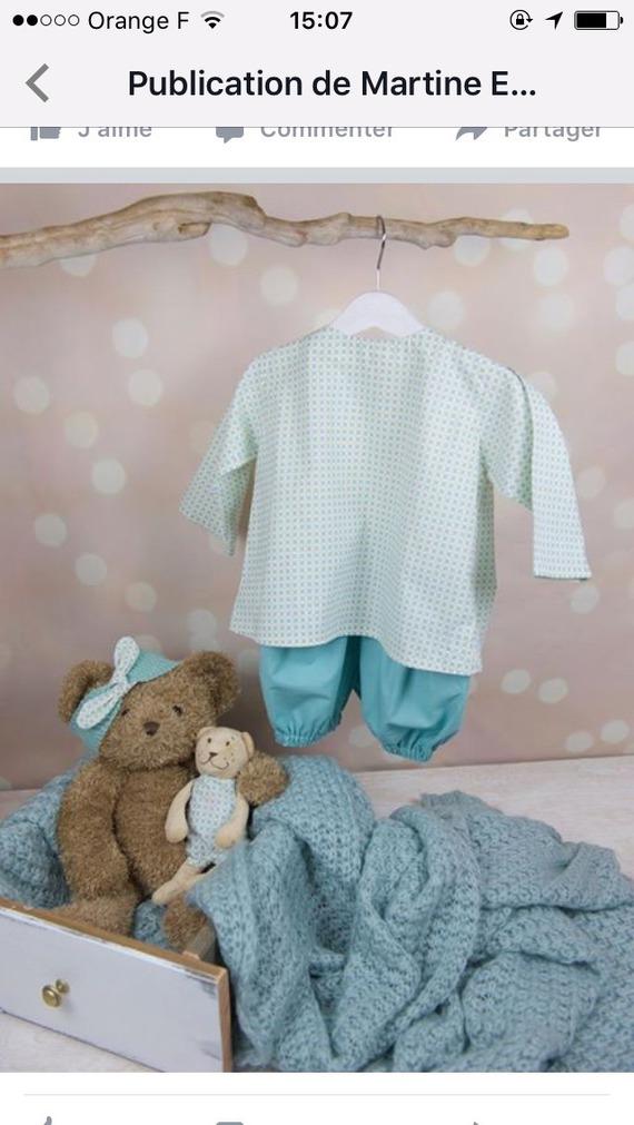 Ensemble bébé  mixte 4 pièces bloomer blouse doudou bandeau