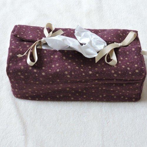 Housse boîte à mouchoirs, tissu