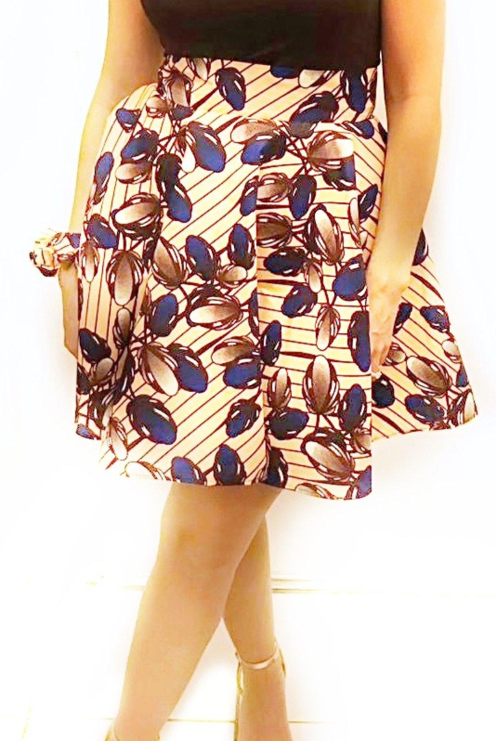 Jupe patineuse-Accessoires-Taille haute-Cloche-ample-Evasée-Corolle-midi-accessoires-Skater skirt-Bell-Ample skirt,Skirt women