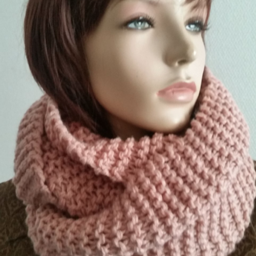 Echarpe tube-snood nude-tour de cou-cache cou-wool scarf-nude scarf-unisex scarves-knit-scarves-scarf-winter accessories-collar size