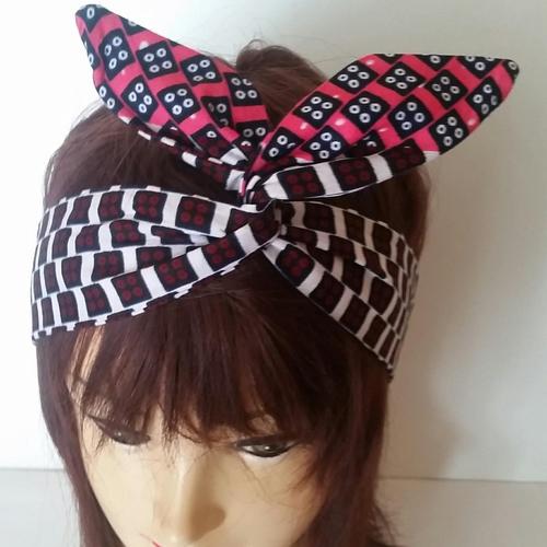 Bandeau cheveu-headband -serre_tête modulable- style vintage ethnique