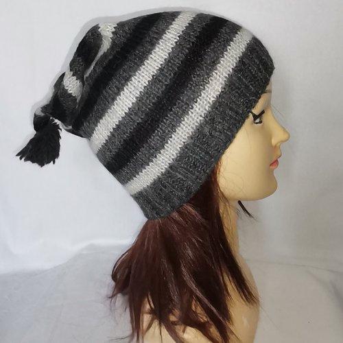 Bonnet lutin  alpaga - bonnet femme-accessoires hiver- chapeau-universel.