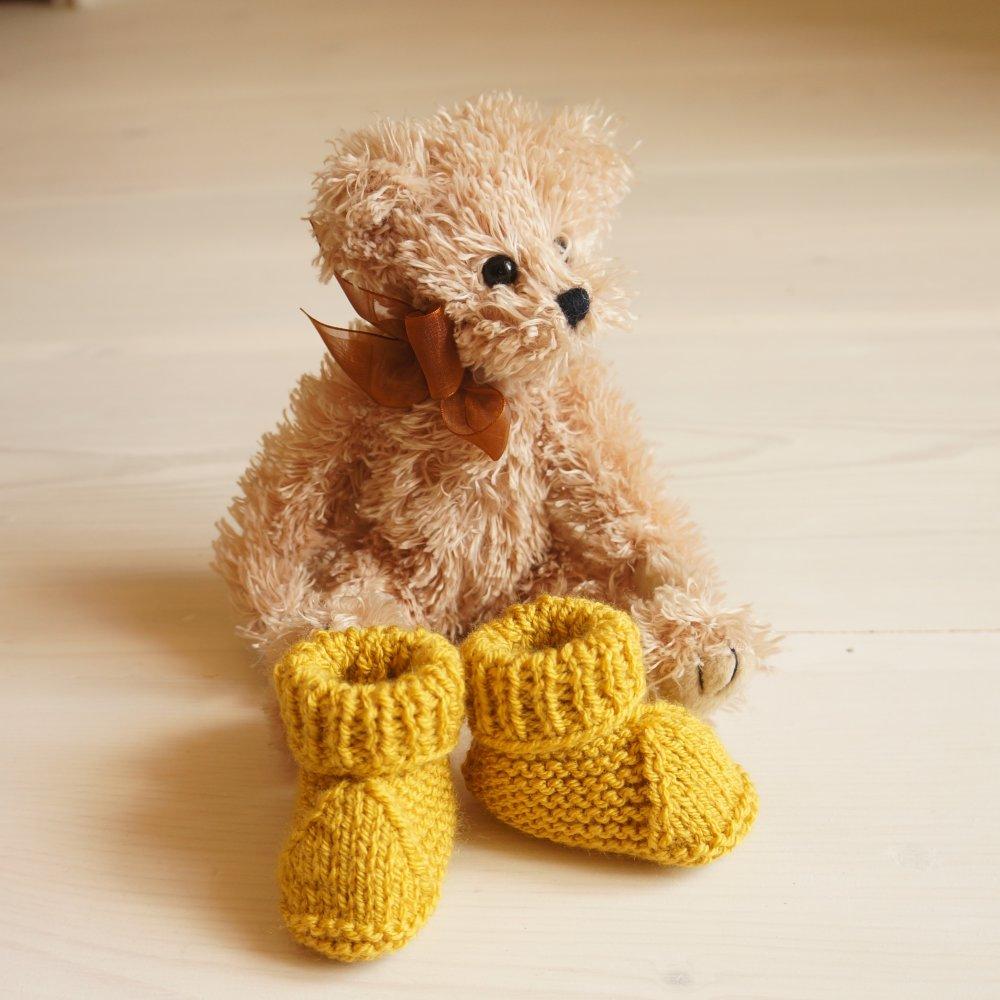 Naissance : chaussons bébé tricotés main