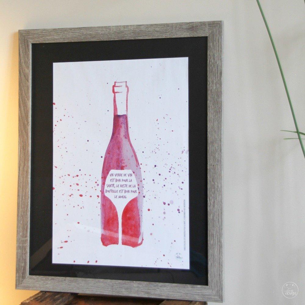 """Affiche """"Un verre de vin"""""""
