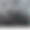 1 mètre de ruban satin pailleté gris 6 millimètres