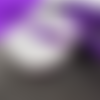 1 mètre de ruban satin violet 6 millimètres