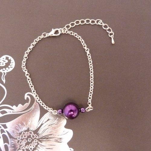 Bracelet violet et argent