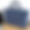 Housse d'ordinateur portable 15'', jean et bleu, fait-main