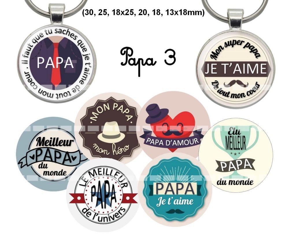 Images digitales pour cabochons à imprimer thème: papa 3