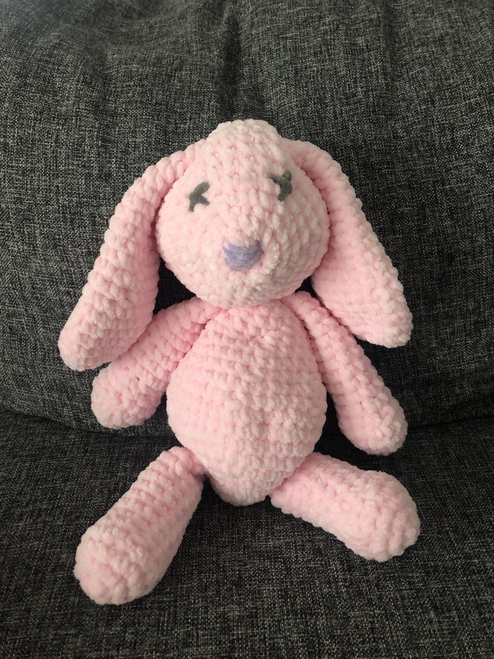 Grand doudou lapin, fait main au crochet.