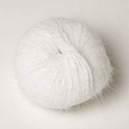 1 pelote angora 80 % angora-tradition coloris blanc