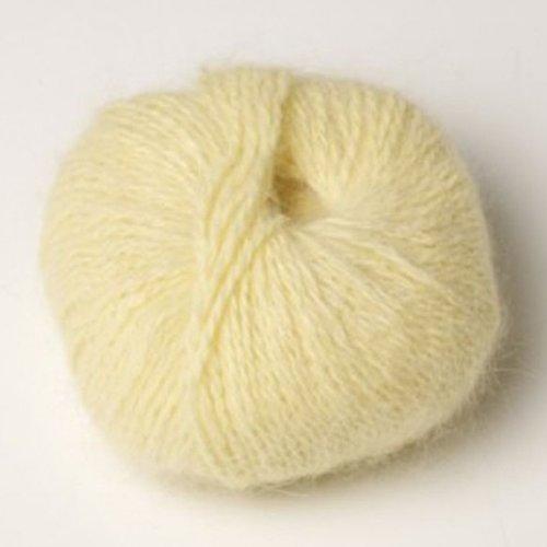 1 pelote angora 80 % angora-tradition coloris jaune paille