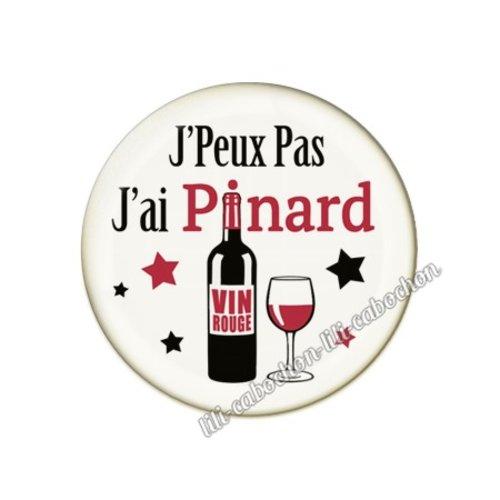 Cabochon résine a coller 25 mm vin pp91