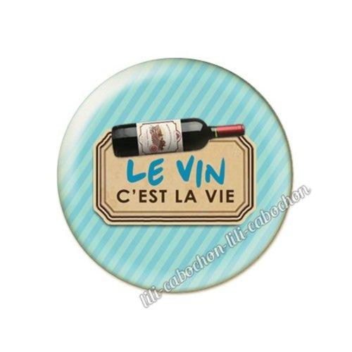 Cabochon résine a coller 25 mm vin pp92