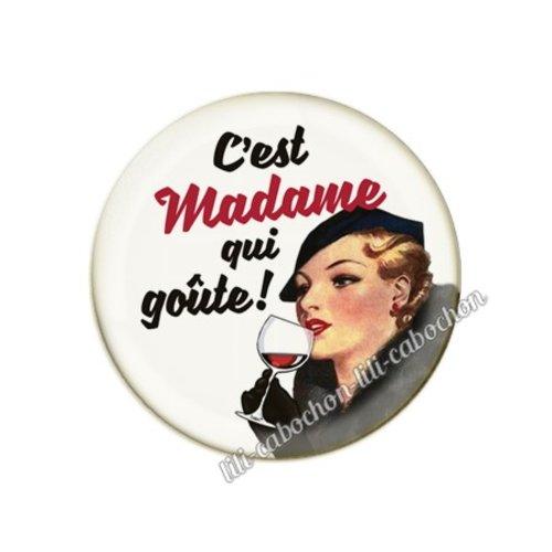 Cabochon résine a coller 25 mm vin pp96