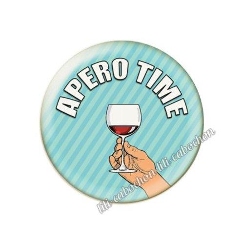Cabochon résine a coller 25 mm vin pp100