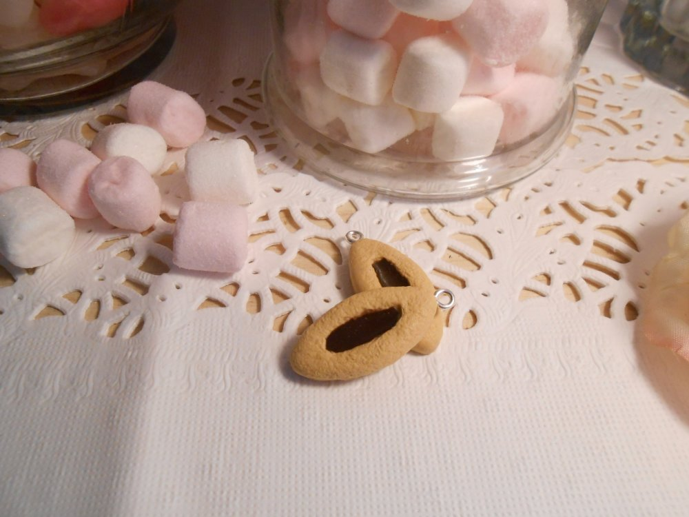 BISCUIT BARQUETTE CHOCOLAT EN FIMO 25MM