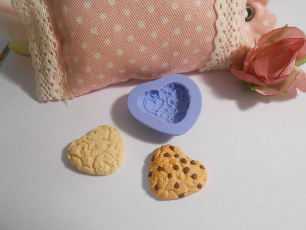 Moule silicone gourmand cookie pour fimo