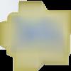 Ecusson brodé patch thermocollant étoile dorée stars sequins 9 cm
