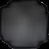 Ecusson fleur noire en strass, patch fleur bijou pour customisation 7 cm