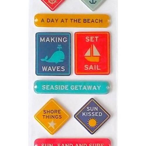 12 stickers autocollants 3d signalétique 21 cm martha stewart scrapbooking carterie créative