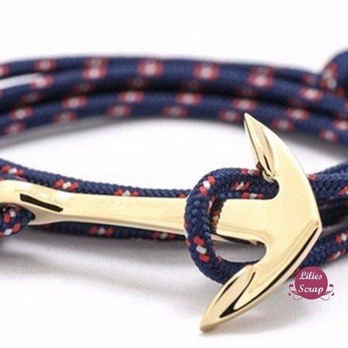 Bracelet Ancre Marine Encre  Homme Femme Mixte  Envoi Suivi
