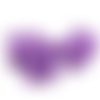 Perle papillon en silicone alimentaire sans bpa 21x29x11mm - violet