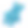Grande breloque ourson à paillettes en résine 47x28mm - bleu