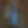 Pendentif aile d'ange bleue patinée et vieillie