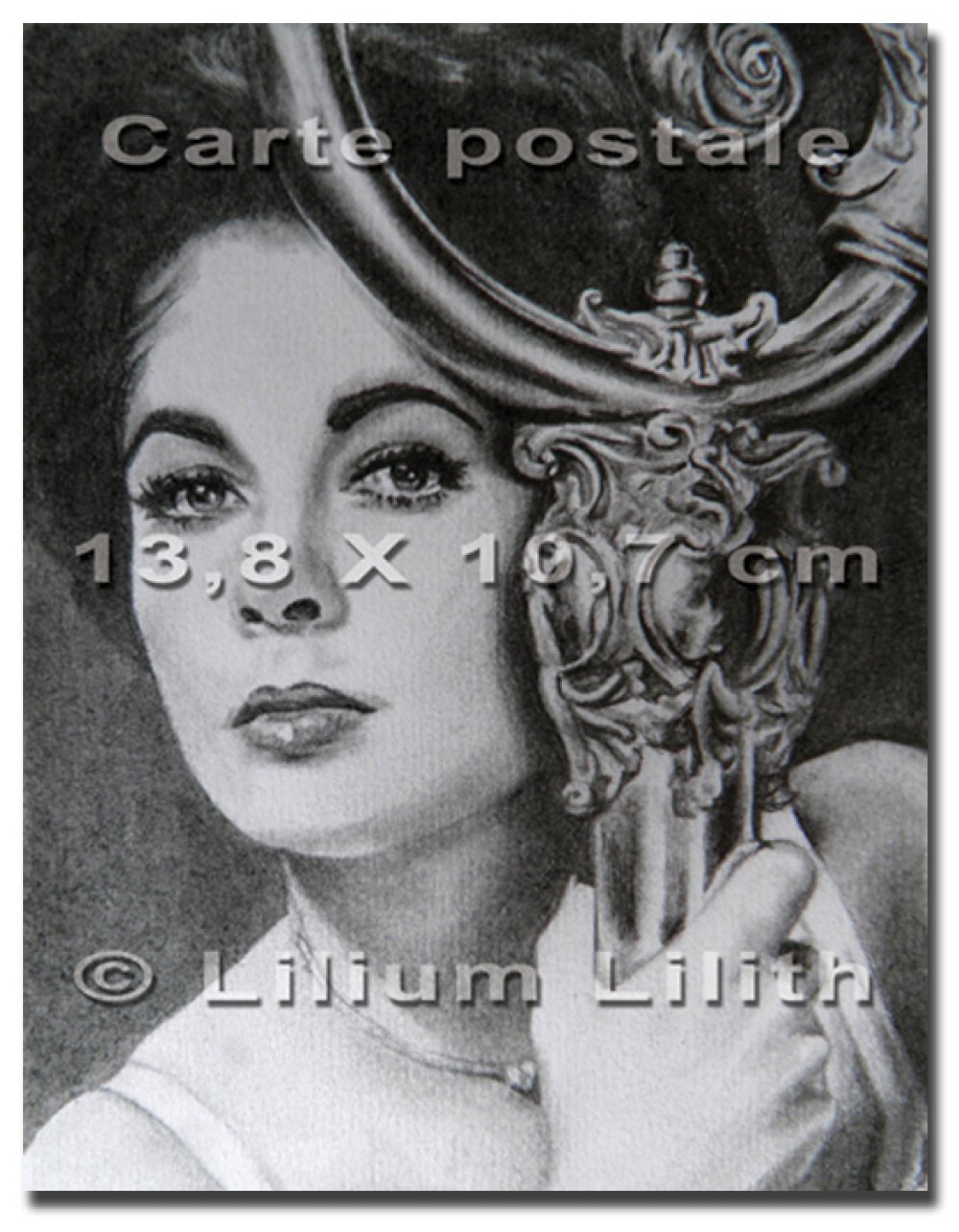 Carte postale. Portrait d'Elizabeth Taylor