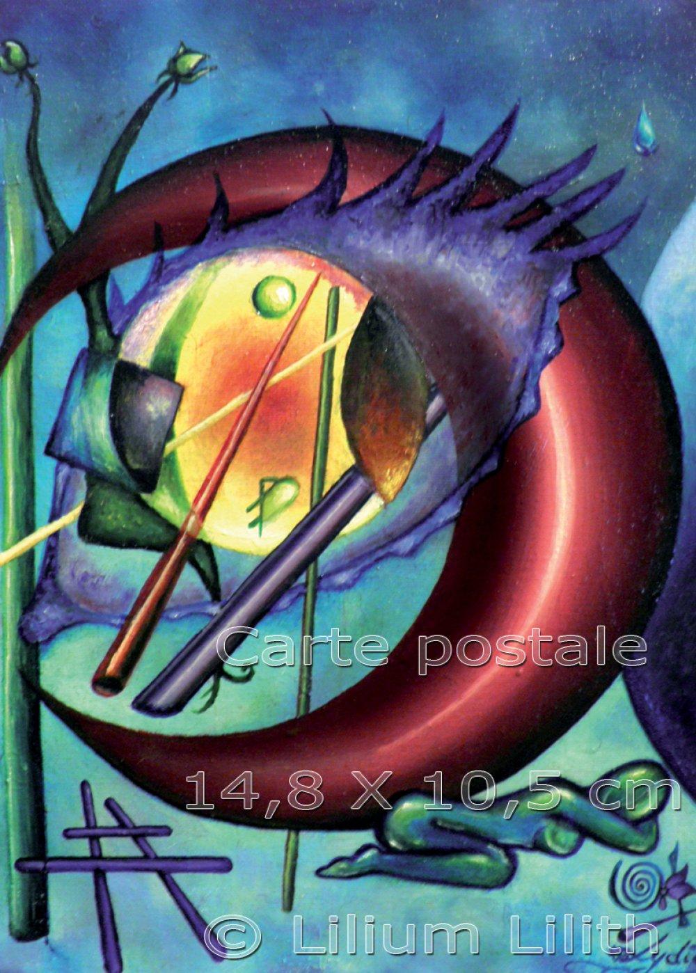 Carte Postale, d'après une peinture de Lilium Lilith