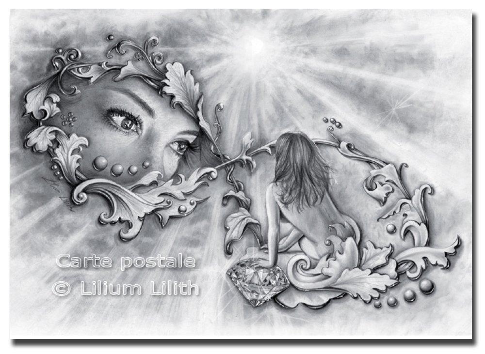 Carte Postale, d'après un dessin de Lilium Lilith
