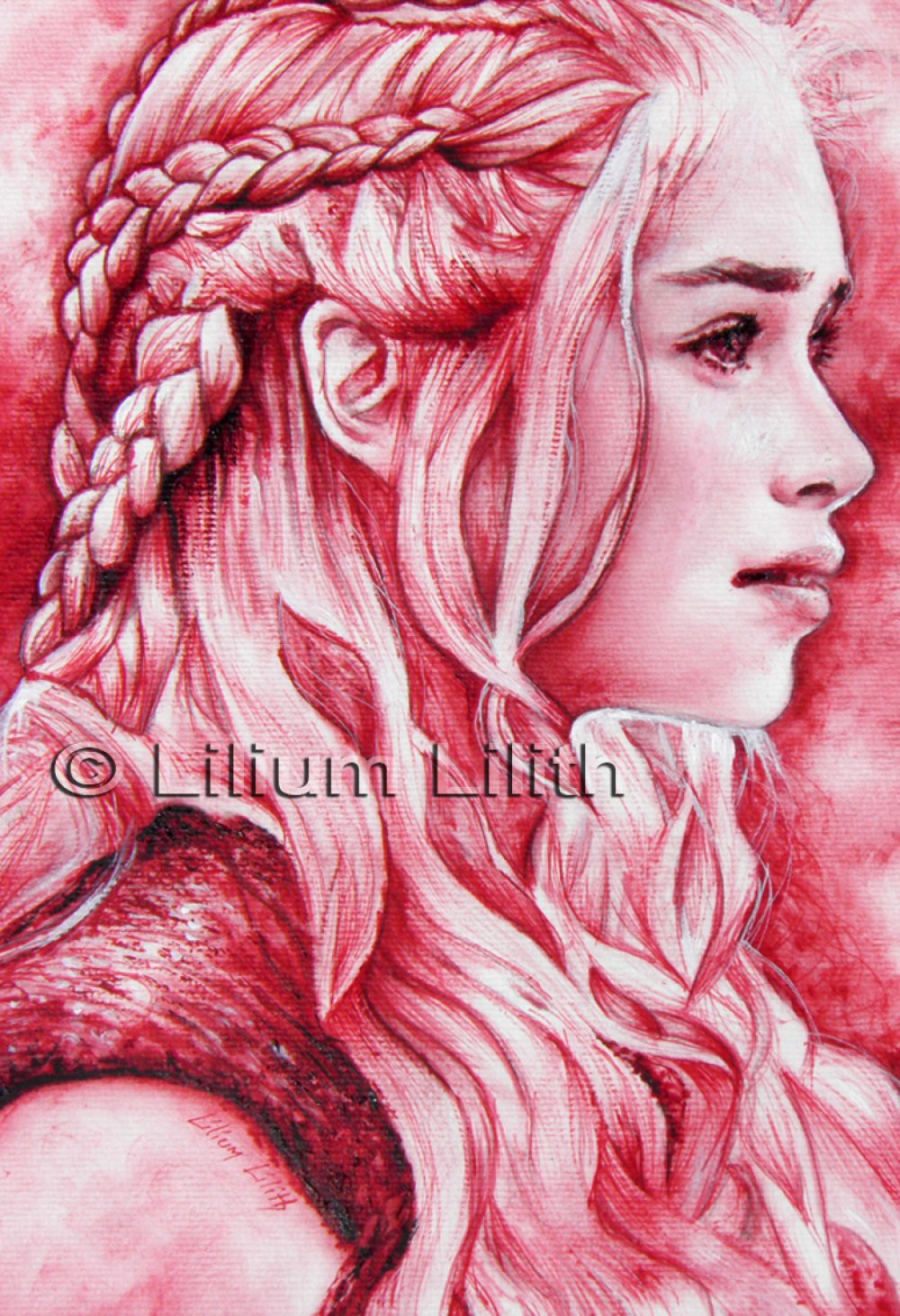 Toile, Daenerys Targaryen, Game of Thrones , 30 X 20 cm