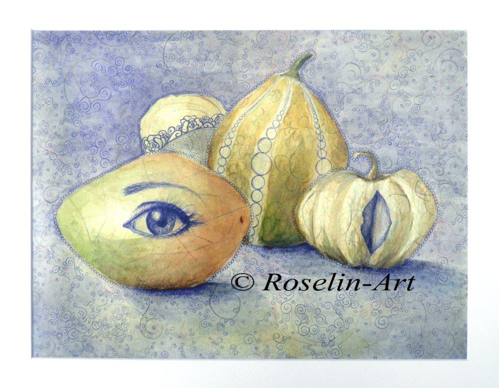 Aquarelle. composition de fruit