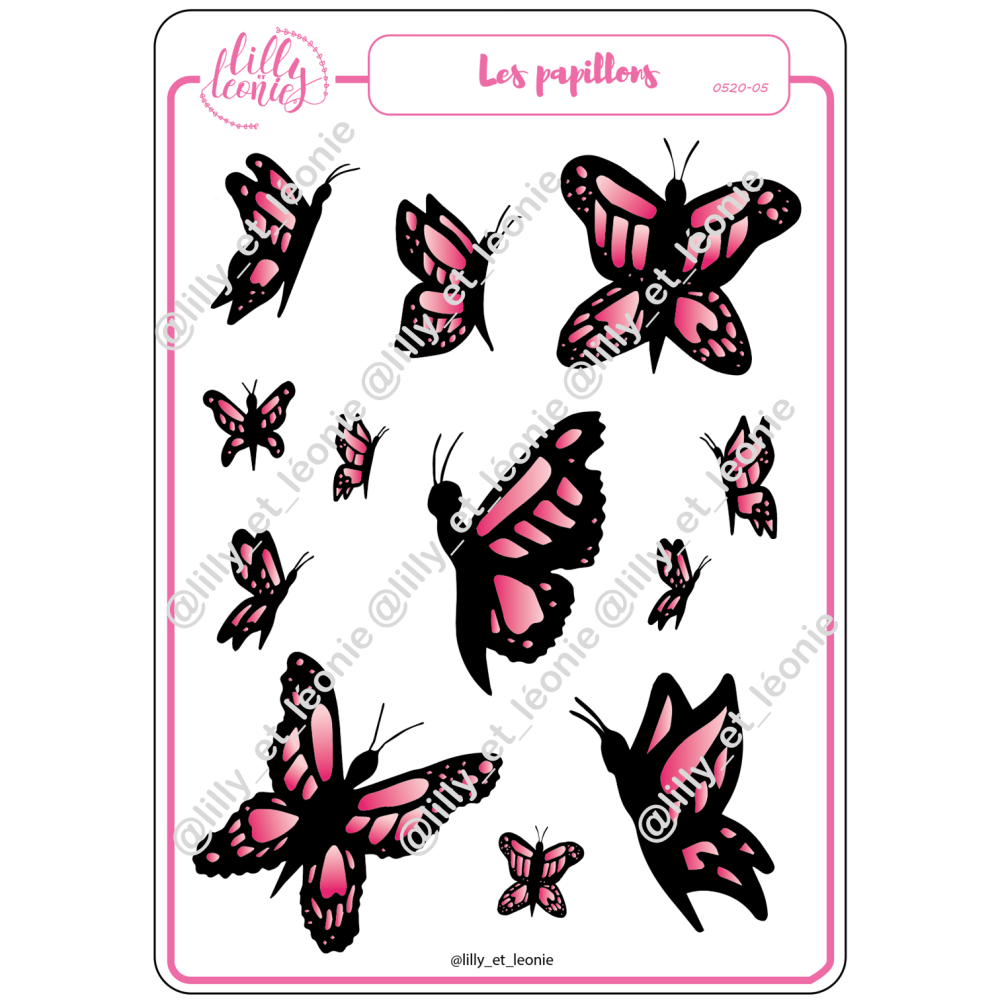 PAPILLONS ROSES