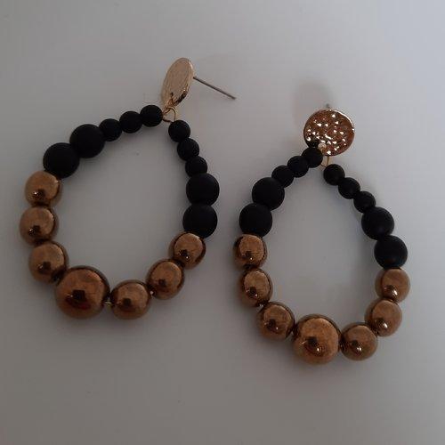 """Boucles d'oreilles goutte : mini """"pearl"""""""