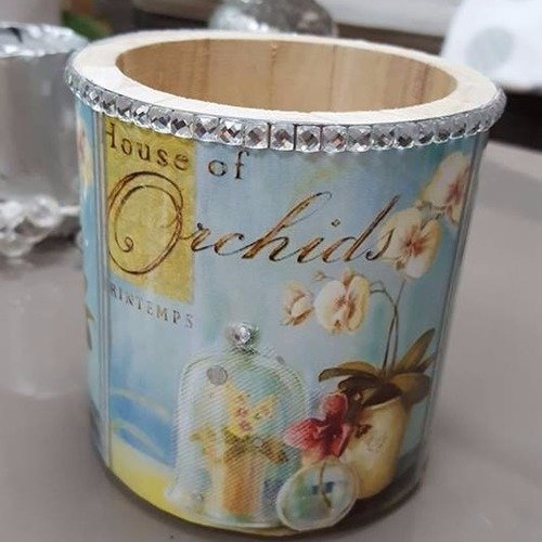 Collection pot , cache pot shabby chic