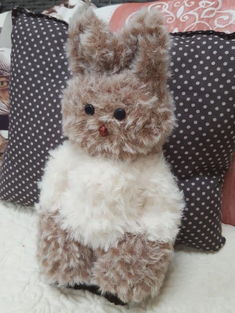 Collection Petit Lapinou Lilou en laine fourrure