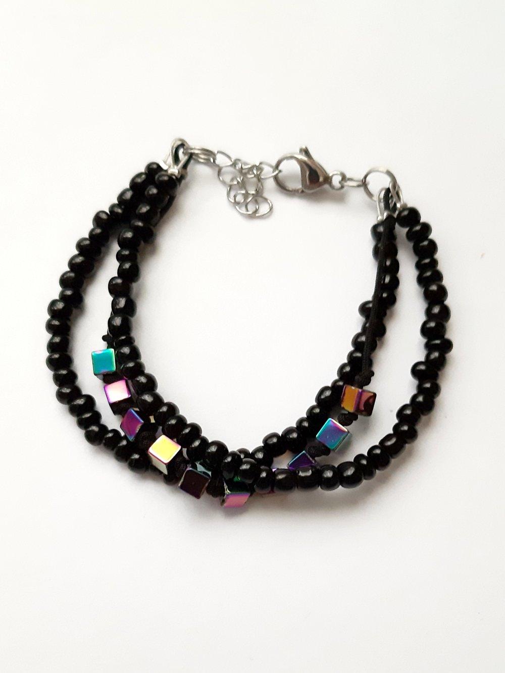 Bracelet Perles De Rocaille Modele Fantaisie Femme Un Grand Marche