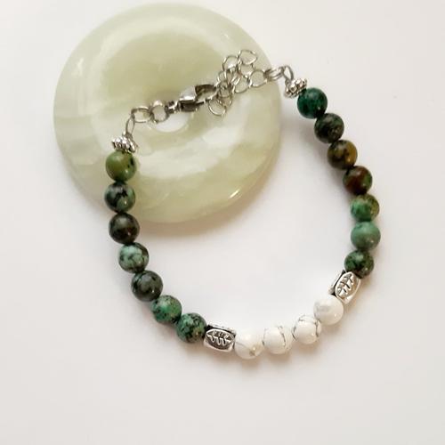 Vendu bracelet perles pierre minérale pour femme
