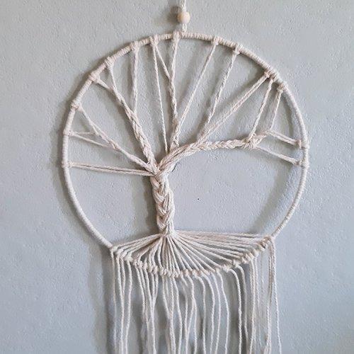 Attrape-rêves arbre de vie fil coton