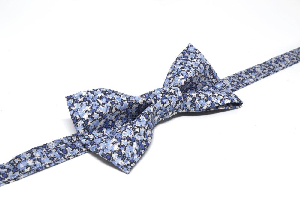 Noeud papillon Liberty Pepper bleu