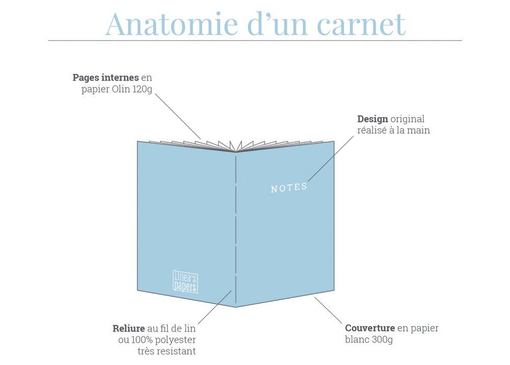 Carnet A5 Douce Nuit - Or métallisé