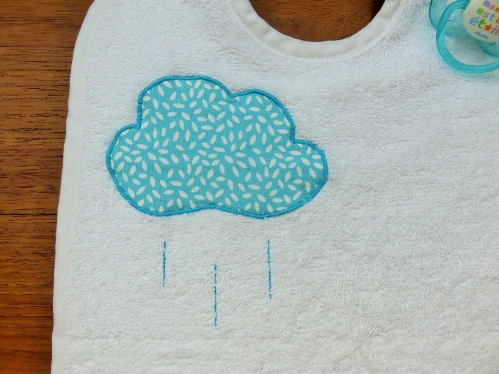 Bavoir nuage turquoise