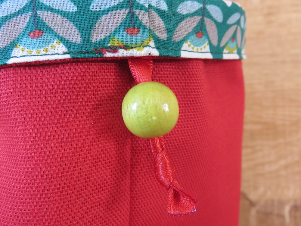 Vide-poche petit rouge/fleur