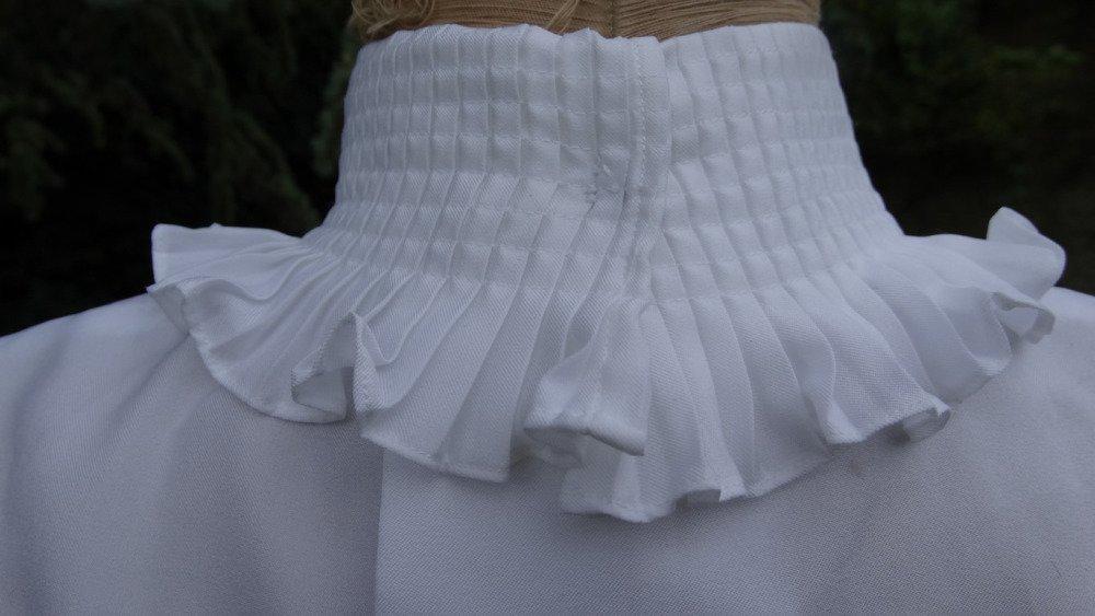 Chemisier vintage année 1950. Vêtement ancien, chemisier ancien année 50, chemisier manche courte ancien été blanc, antique chemise france, chemisier dentelle