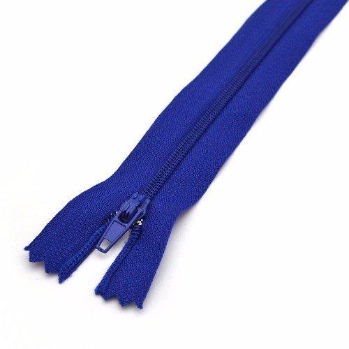 Fermeture éclair 25 cm non séparable coloris bleu