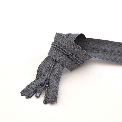 Couleur Noire Zip// Fermeture éclair simple non séparable de 30 cm